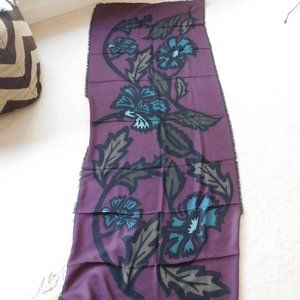 NEW BURBERRY 100% CASHMERE FLORAL SCARF SHAWL